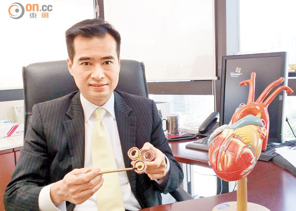 李少隆表示,血管嚴重栓塞可致心臟病猝死。