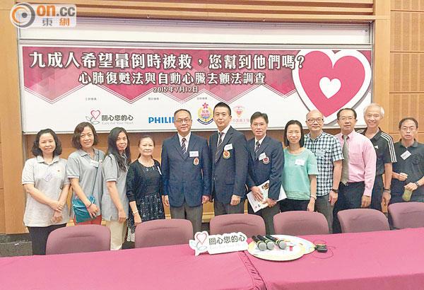 「關心您的心」冀政府提供更多資助急救課程。