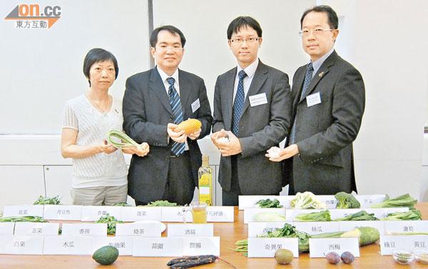 吳女士(左一)先後六次懷疑誤食與華法林相沖食物入院。蕭頌華(左二)及蘇曜華(左三)均提醒病人應小心戒口。