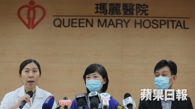 單志華太太(中)及哥哥(右)公開呼籲有心人捐出過世親人的心臟。 (何頴賢攝)