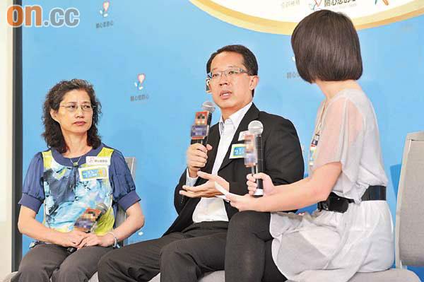 李永偕(中)及李少英(左)年輕時不節制飲食均於四十多歲時發現患冠心病。(蕭毅攝)