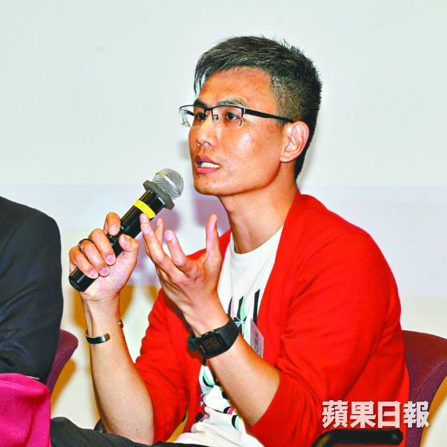 ■胡偉文今年初跑馬拉松時心臟病發,幸及時做CPR及用AED急救。王耀興攝