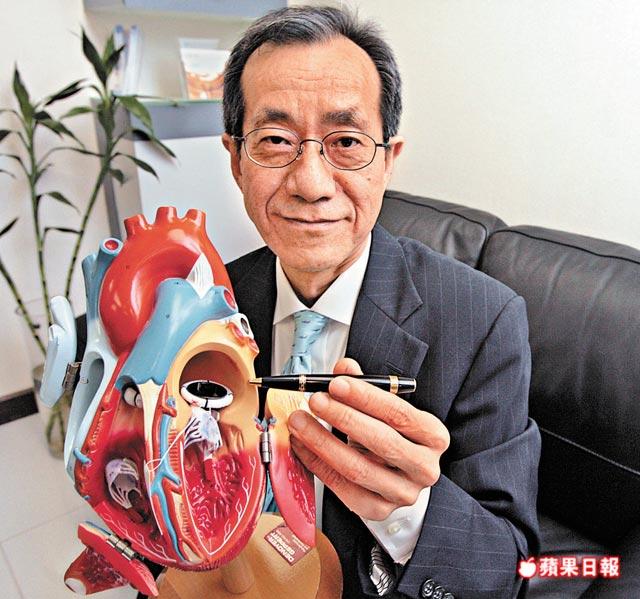 何國強醫生指,金屬心瓣壽命可長達30至40年。李家皓攝