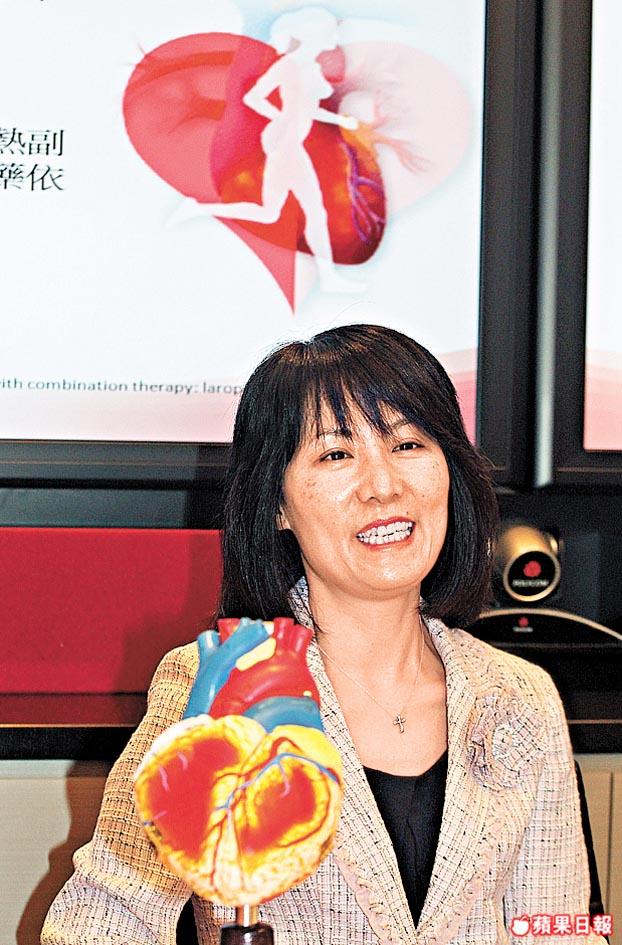李麗芬醫生指女性更年期後體內血脂水平轉變,患冠心病風險增四倍。