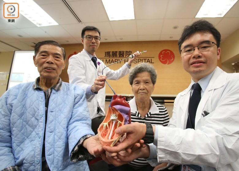 瑪麗醫院心臟診療團隊2015年起共為12名病人植入第三代人工心瓣。(黃偉邦攝)