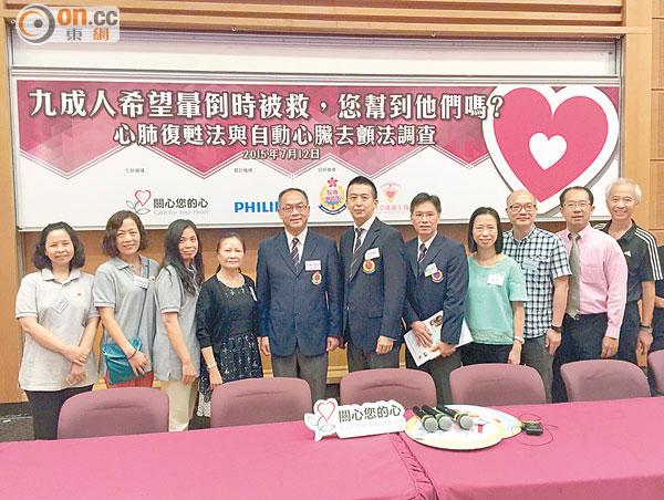 「關心您的心」冀政府提供更多資助急救課程;圖中為王泰鴻。