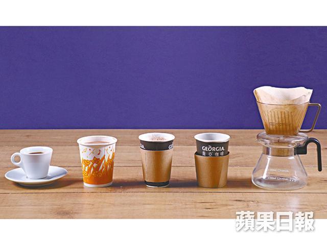 咖啡中,以特濃咖啡的咖啡因含量最多,每40毫升就含約97毫克咖啡因,若以一杯250毫升計算,咖啡因含量已超標。(左起:特濃咖啡、茶餐廳咖啡、泡沬咖啡、美式咖啡及過濾式咖啡)