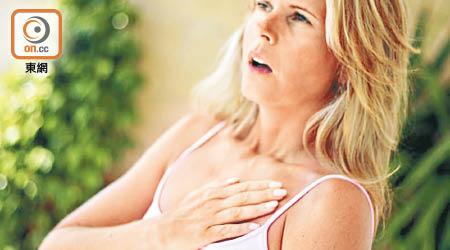 瑞典研究發現,確診心臟病發的女病人,死亡風險比男患者高三倍。(資料圖片)