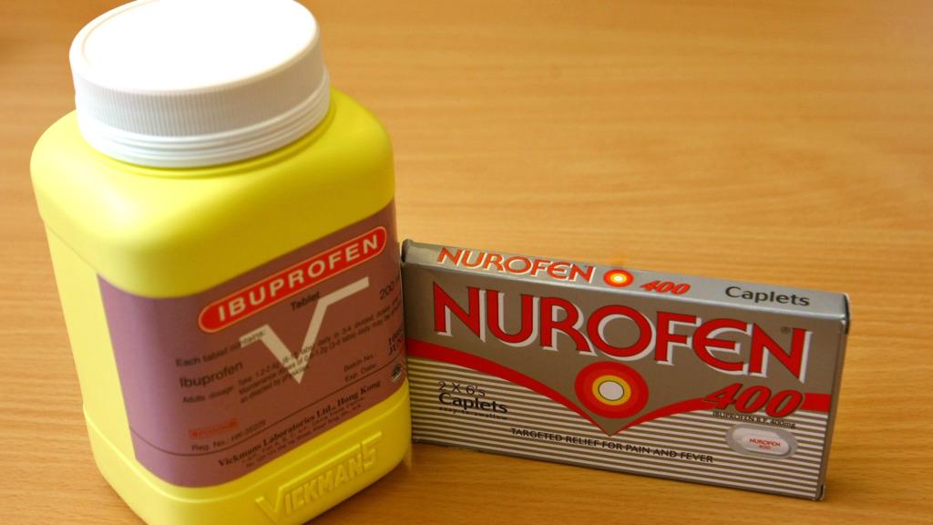 布洛芬常見於止痛藥,甚至用於兒童止痛藥水。