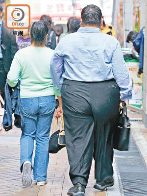 研究發現過重或癡肥的人心臟病致死風險更高,癡肥者壽命亦較正常體重者短。(資料圖片)