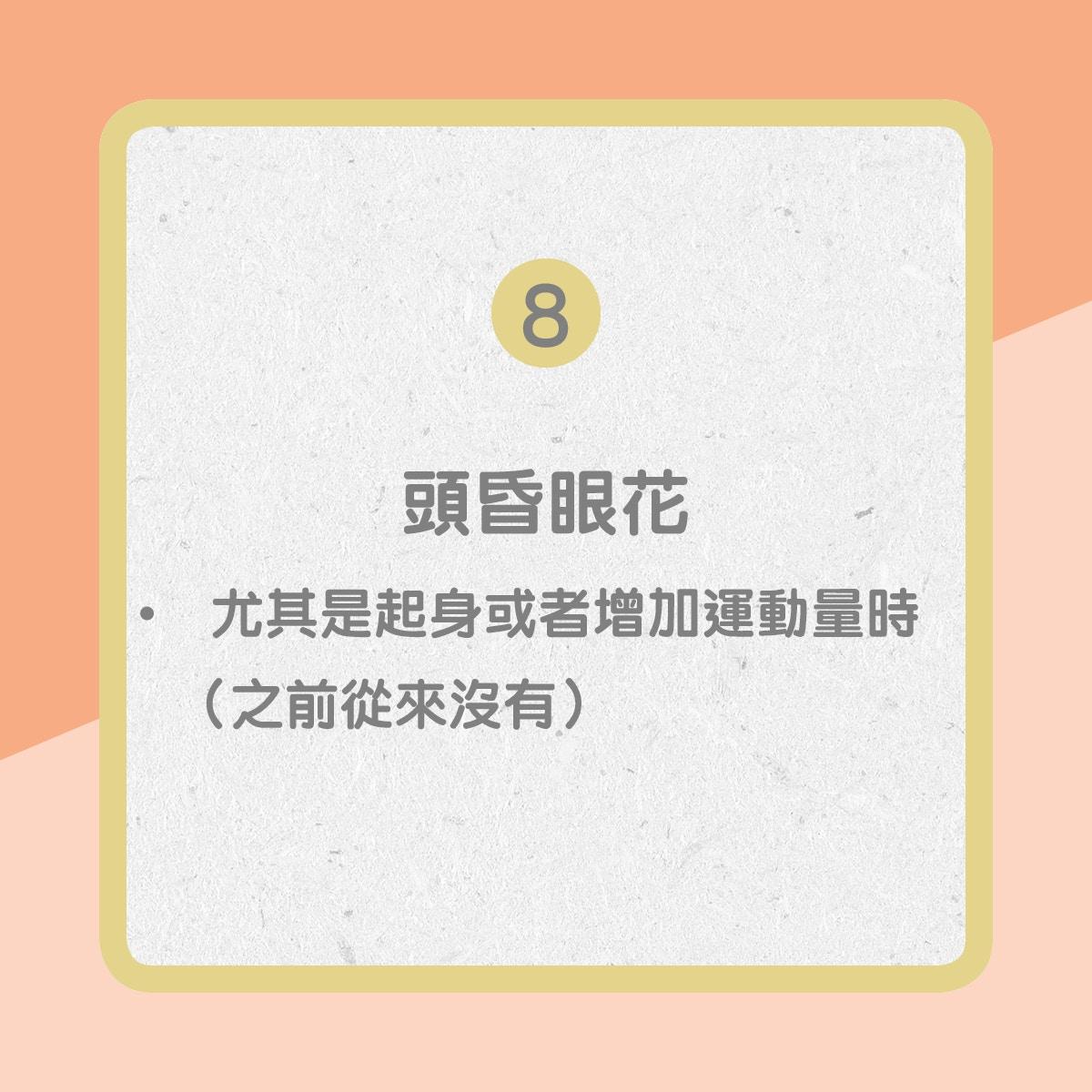【心臟衰竭病徵】8. 頭昏眼花(01製圖)