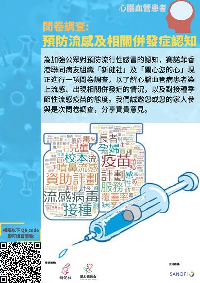 問卷調查:預防流感及相關併發症認知