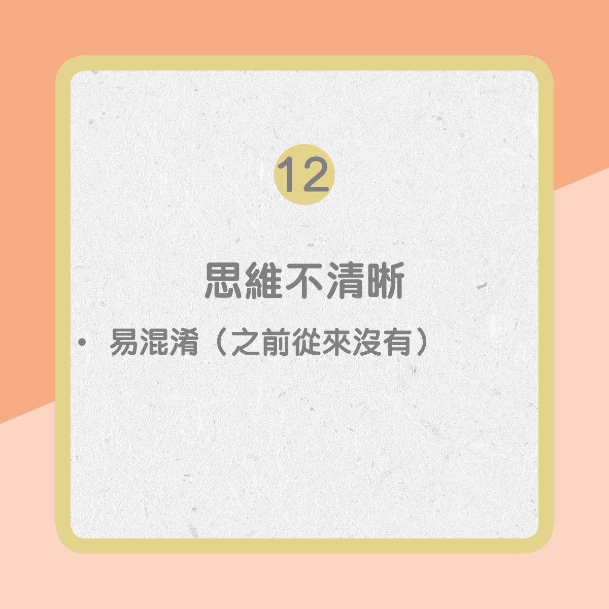 【心臟衰竭病徵】12. 思絰不清晰(01製圖)