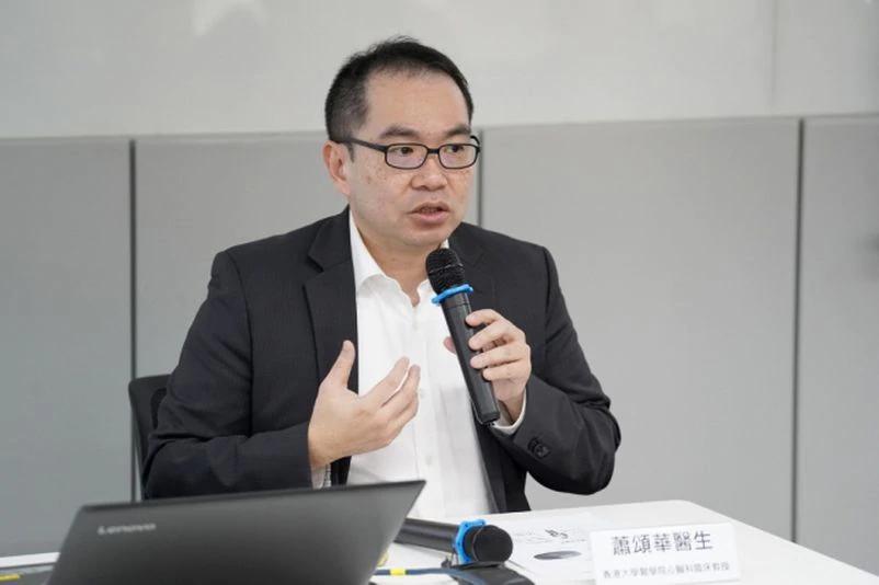 蕭頌華呼籲中風及心臟病人每年打流感針,減低染病後的併發症及死亡風險。伍嘉亮攝