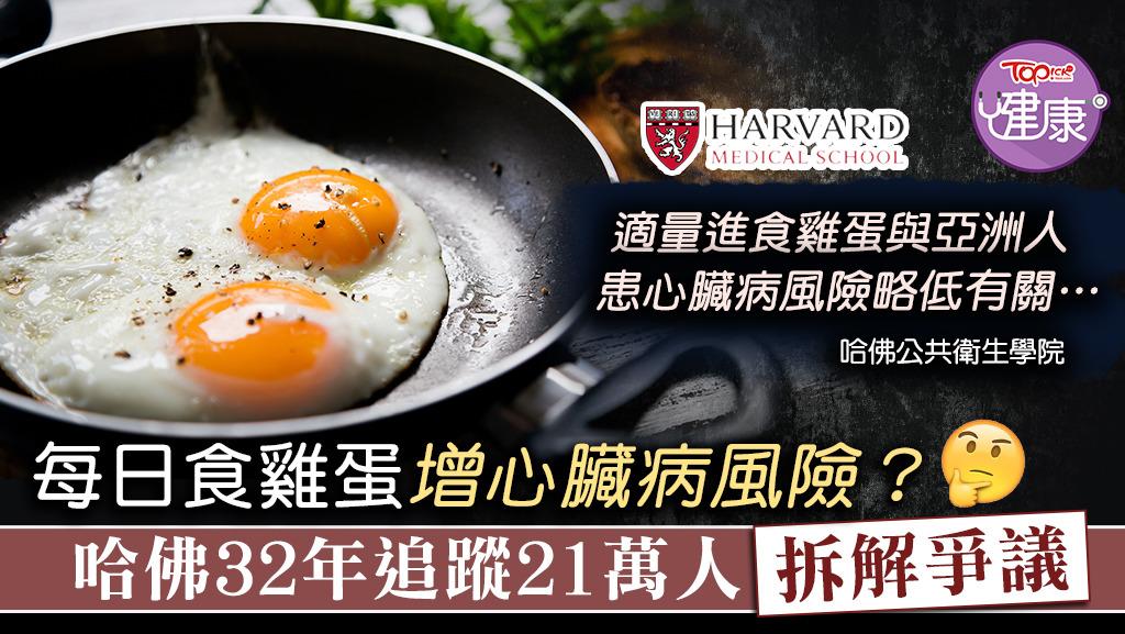 ▲ 哈佛研究發現,每日食1隻雞蛋,並不會增加心血管疾病風險。