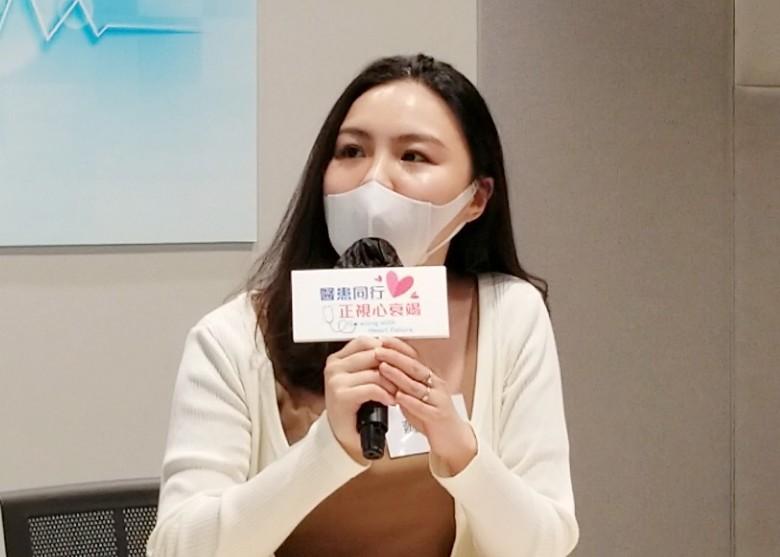 蕭小姐稱對病情管理認知不多,只會量血壓並控制飲水量,亦不清楚藥物作用及副作用。(陳曉雋攝)